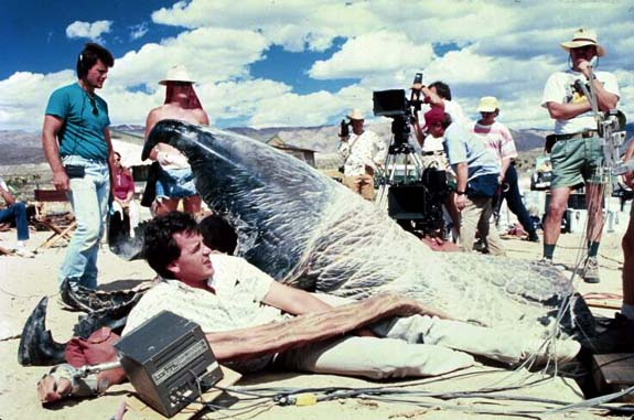 Full Scale Graboid On Set