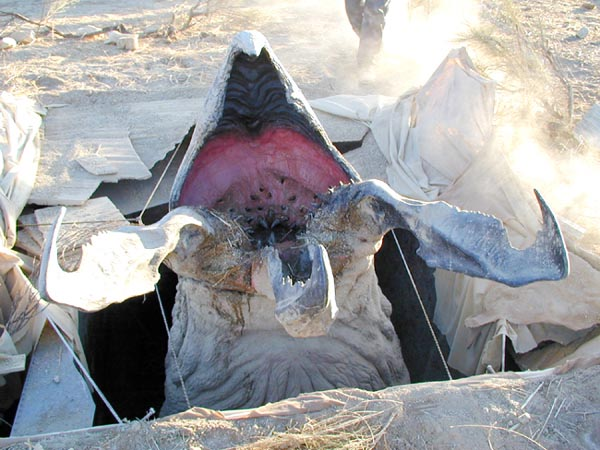 Graboid on set