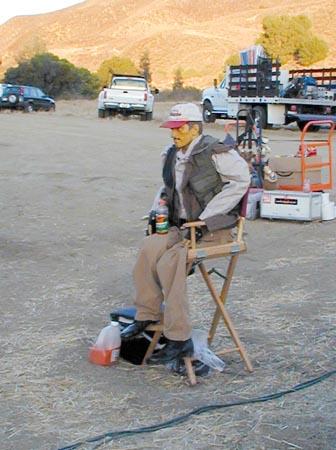 Burt on set (sort of)
