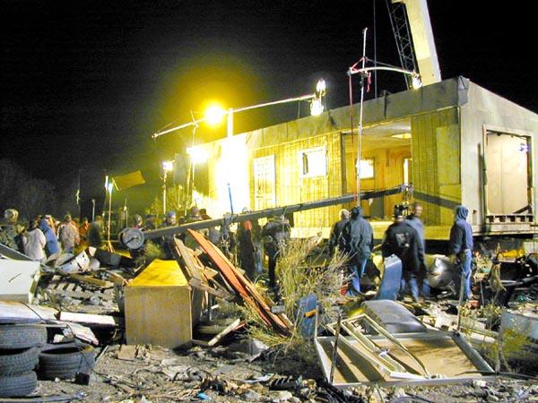 Night in the junk yard