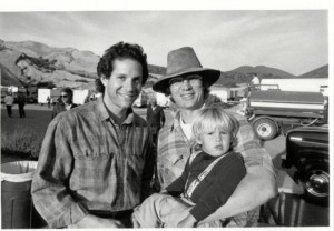 S.S. Wilson on the set of Short Circuit with star Steve Guttenberg