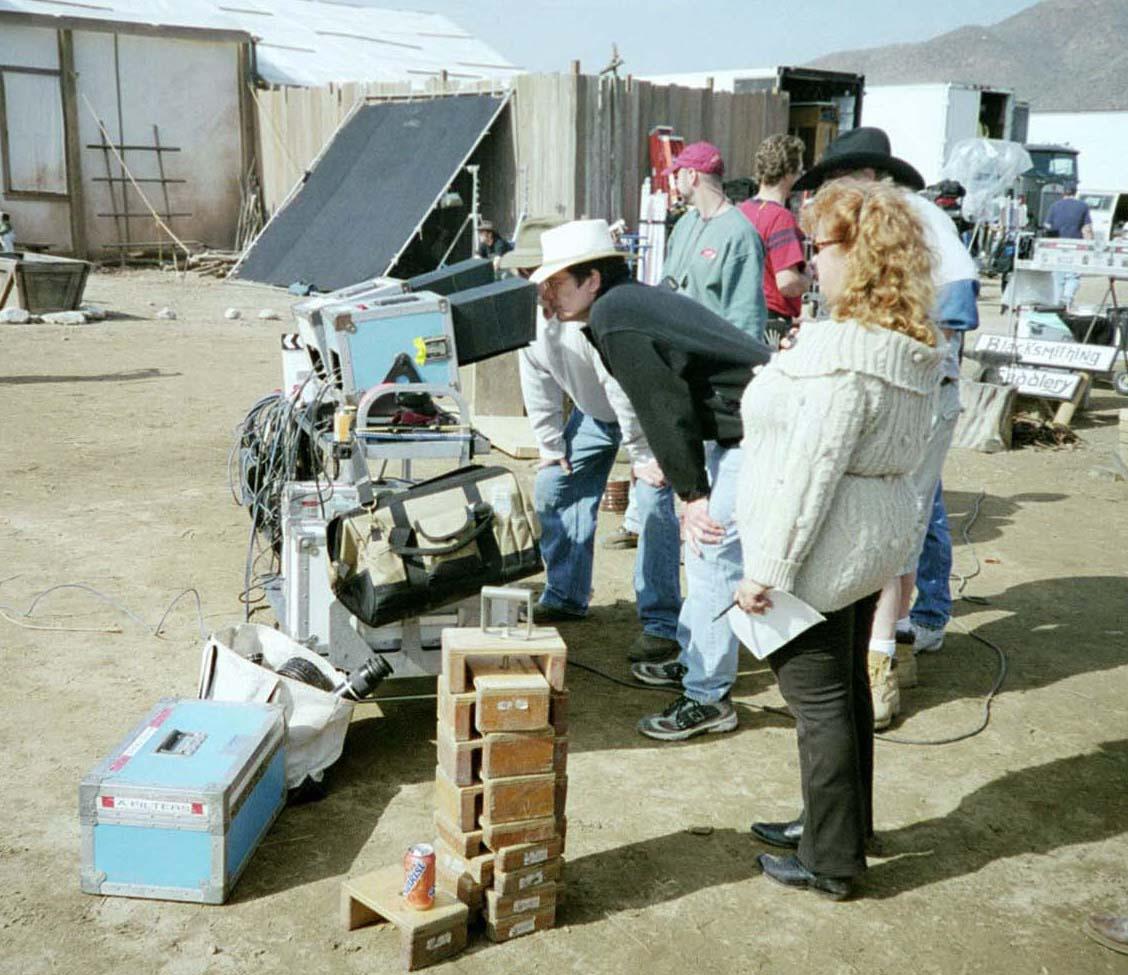 S. S. Wilson on set
