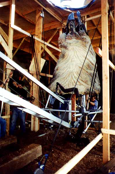 The full size 8 foot Graboid head section loaded for