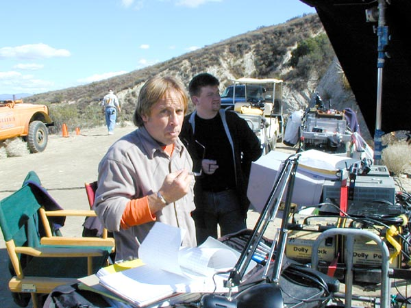 Brent on set