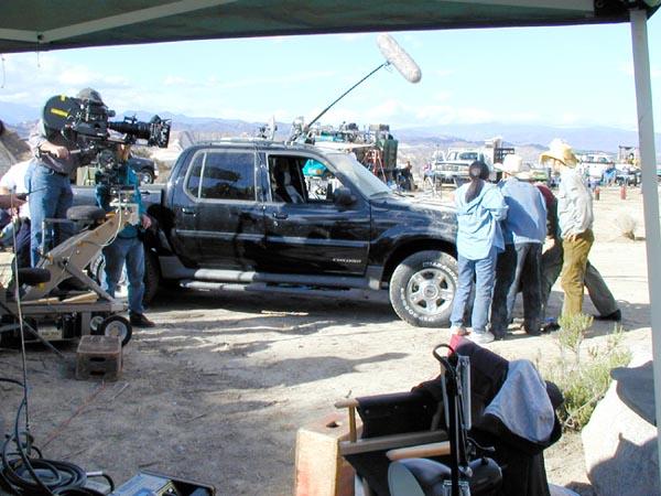 Graboid on set